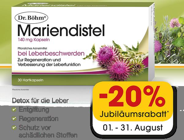 Dr. Böhm  Mariendistel 140 mg Kapseln 30 Stück